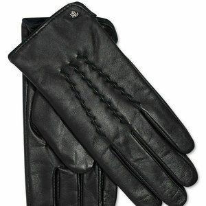 Ralph Lauren Leather Whipstitch Touch Gloves